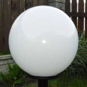 Lampy ogrodowe wys. 100 cm, kula podpalana 400 mm