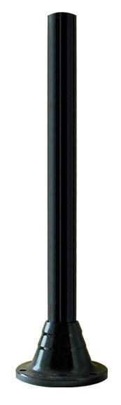 Słupki czarne karbowane, wysokość 1200 mm
