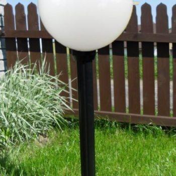 Lampy ogrodowe wys. 130 cm, kula podpalana 400 mm