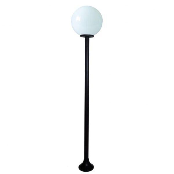 Lampy ogrodowe wys. 1.9 m, klosz biały 400 mm