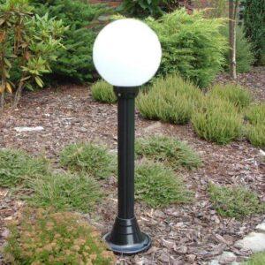 Lampy ogrodowe wys. 115 cm, kula biała 250 mm