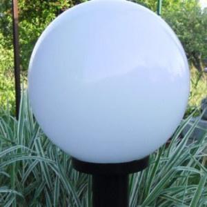 Lampy ogrodowe wys. 85 cm, klosz biały 250 mm