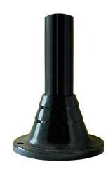 Słupki czarne karbowane, wysokość 300 mm