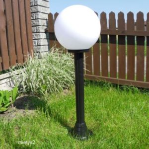 Lampy ogrodowe wys. 120 cm, kula biała 300 mm