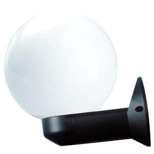 Kinkiety ogrodowe, kula biała 200 mm