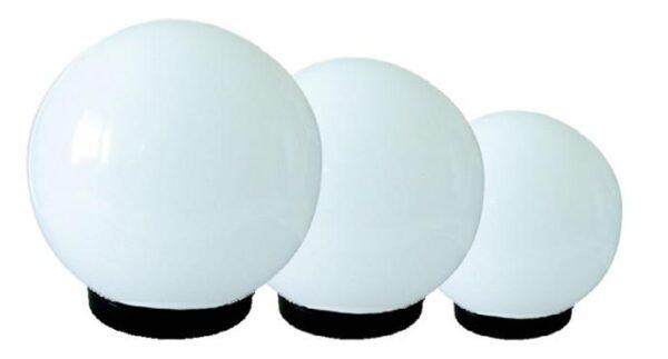 Zestaw 3 białych kloszy z oprawą i żarówką LED