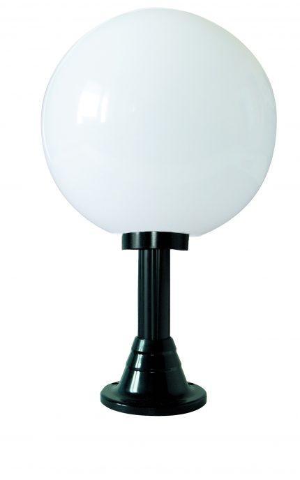 Lampy ogrodowe wys. 70 cm, kula przeźroczysta 400 mm