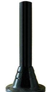 Słupki czarne karbowane, wysokość 600 mm
