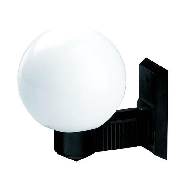 Kinkiety ogrodowe proste, kula biała 200 mm