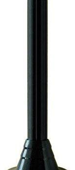 Słupki czarne karbowane, wysokość 900 mm