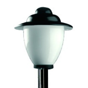 Lampy parkowe wys. 2.1 m, klosz amfora z daszkiem