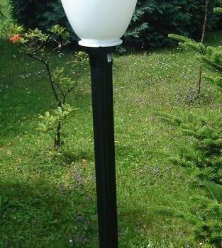 Lampy ogrodowe wys. 145 cm, klosz amfora