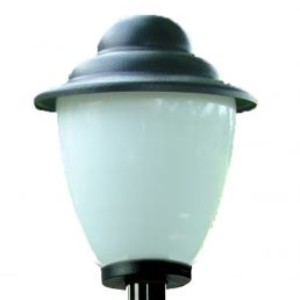 Lampy ogrodowe wys. 115 cm, klosz amfora z daszkiem