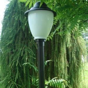 Lampy ogrodowe wys. 145 cm, klosz amfora z daszkiem