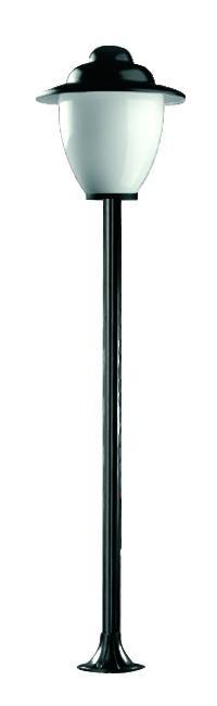 Lampy ogrodowe wys. 2 m, klosz amfora z daszkiem 250 mm