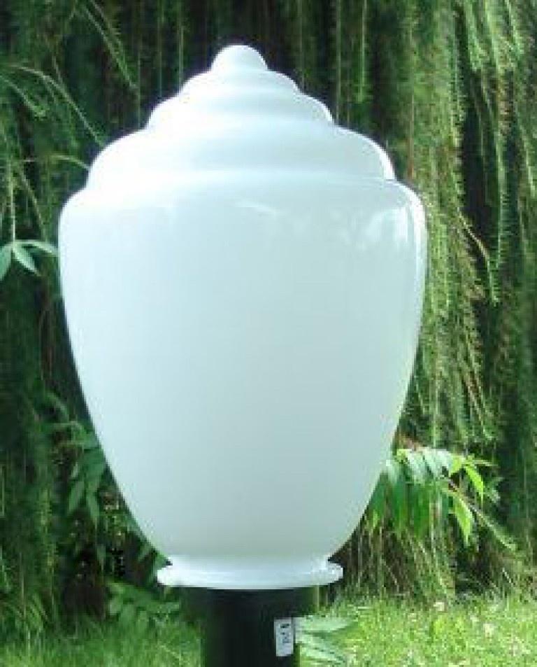 Klosze ogrodowe amfora z oprawą i żarówką LED 250 mm