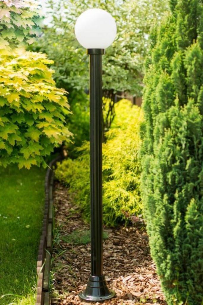 Lampy ogrodowe wys. 2 m, klosz biały 250 mm