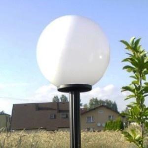 Lampy ogrodowe wys. 2.2 m, klosz biały 400 mm
