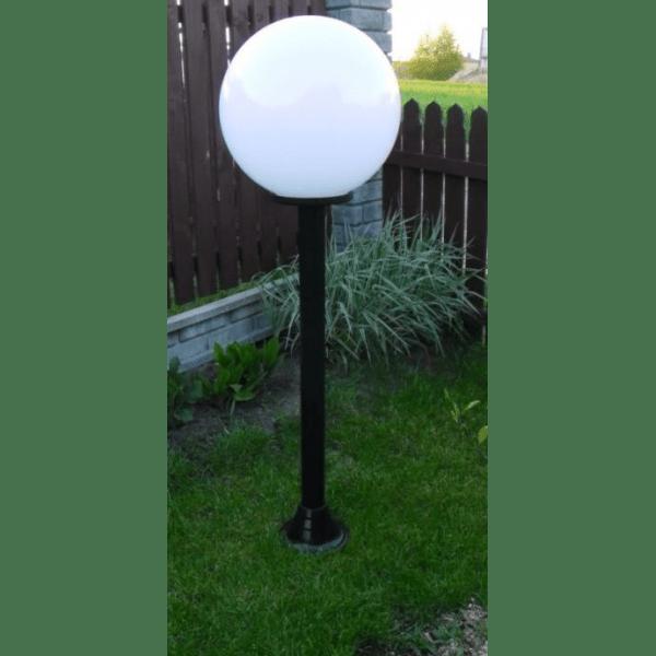 Lampy ogrodowe wys. 150 cm, klosz biały 300 mm