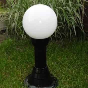 Lampy ogrodowe wys. 50 cm, kula biała 200 mm
