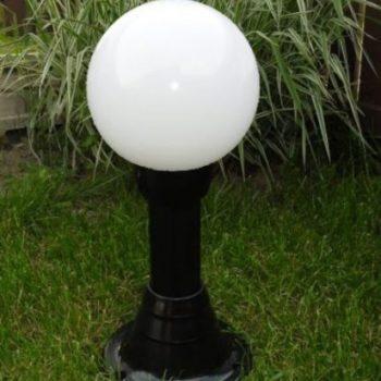 Lampy ogrodowe wys. 55 cm, kula biała 250 mm