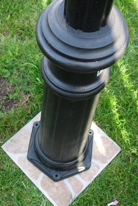 Słupek parkowy czarny, wysokość 1.8 m