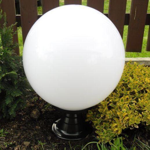 Lampy ogrodowe wys. 60 cm, kula przeźroczysta 400 mm