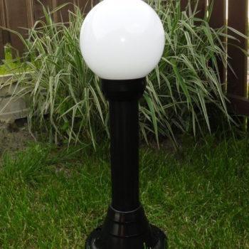 Lampy ogrodowe wys. 80 cm, klosz biały 200 mm
