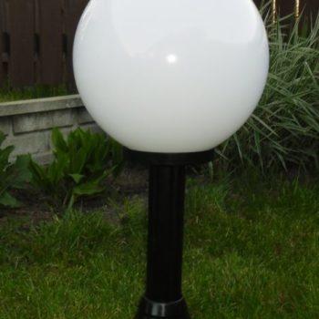 Lampy ogrodowe wys. 90 cm, kula biała 300 mm