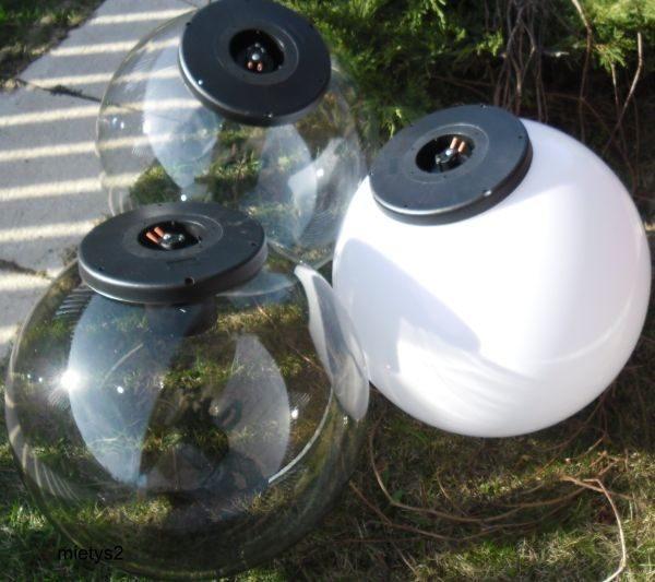 Klosze ogrodowe podpalane z oprawą i żarówką LED 400 mm