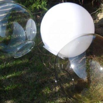 Lampy ogrodowe wys. 160 cm, klosz podpalany 400 mm
