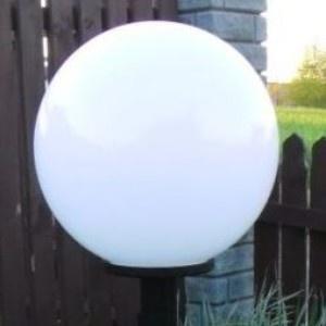 Lampy ogrodowe wys. 160 cm, klosz biały 400 mm
