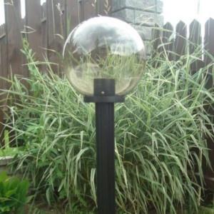 Lampy ogrodowe wys. 115 cm, kula podpalana 250 mm