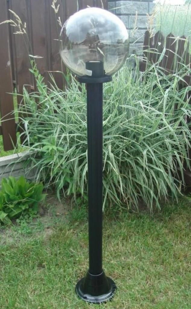 Lampy ogrodowe wys. 140 cm, kula podpalana 200 mm