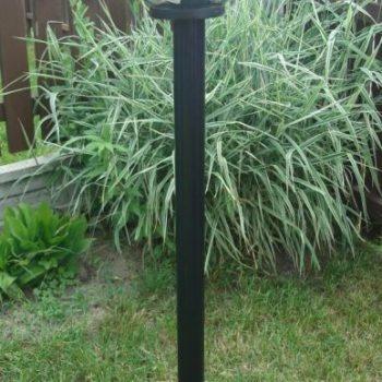 Lampy ogrodowe wys. 145 cm, kula podpalana 250 mm