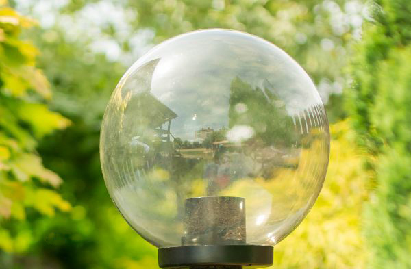 Klosze ogrodowe podpalane z oprawą i żarówką LED 250 mm