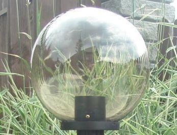 Klosze ogrodowe podpalane z oprawą i żarówką LED 300 mm
