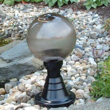 Lampy ogrodowe wys. 45 cm, kula pryzmatyczna 250 mm