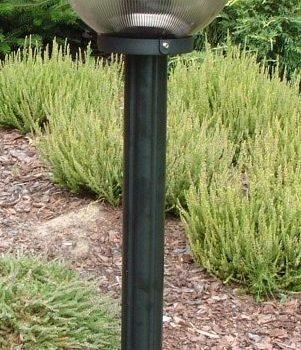 Lampy ogrodowe wys. 110 cm, kula pryzmatyczna 200 mm
