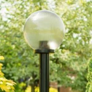 Lampy ogrodowe wys. 2 m, klosz pryzmatyczny 250 mm