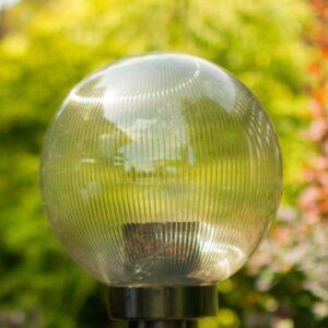 Klosze ogrodowe pryzmatyczne z oprawą i żarówką LED 200 mm