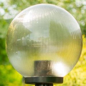 Klosze ogrodowe pryzmatyczne z oprawą i żarówką LED 300 mm