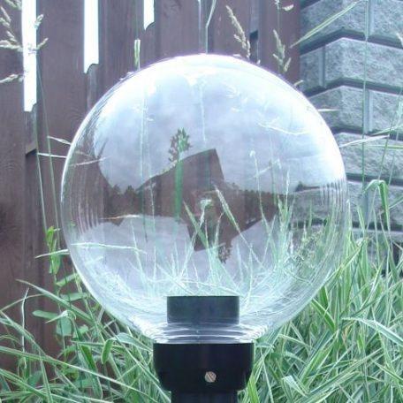Klosze ogrodowe przeźroczyste z oprawą i żarówką LED 200 mm