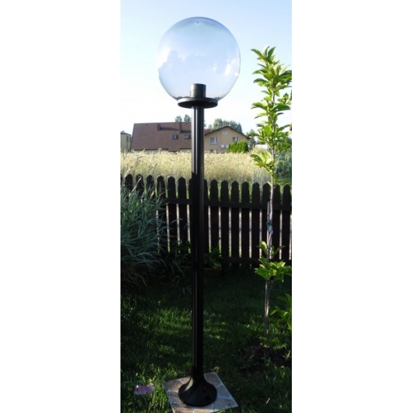 Lampy ogrodowe wys. 1.9 m, klosz przeźroczysty 400 mm