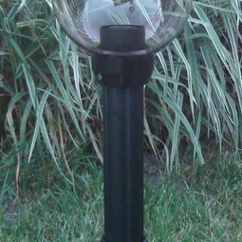 Lampy ogrodowe wys. 80 cm, kula przeźroczysta 200 mm