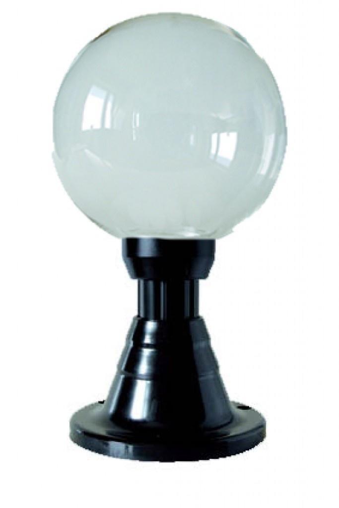 Lampy ogrodowe wys. 45 cm, kula przeźroczysta 250 mm