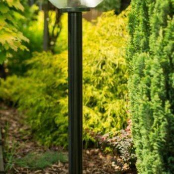 Lampy ogrodowe wys. 145 cm, kula przeźroczysta 250 mm