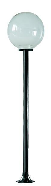 Lampy ogrodowe wys. 2 m, klosz przeźroczysty 250 mm
