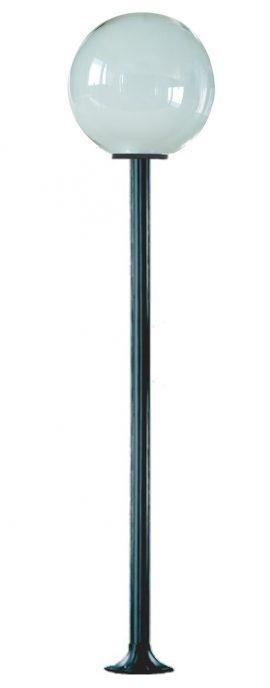 Lampy ogrodowe wys. 2.2 m, klosz przeźroczysty 400 mm