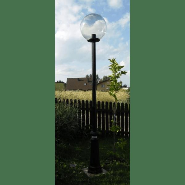 Lampy parkowe wys. 2.2 m, klosz przeźroczysty 400 mm